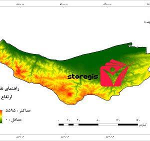 دانلود نقشه ارتفاع استان مازندران