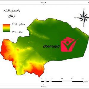 دانلود نقشه ارتفاع استان قم