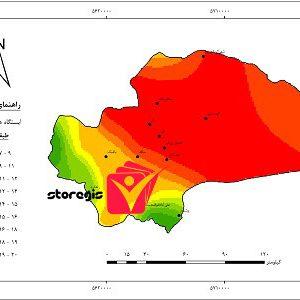 دانلود نقشه طبقات دما استان قم