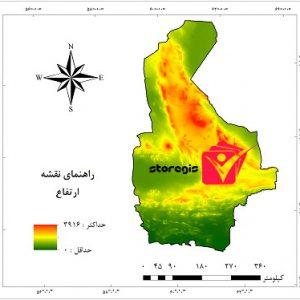 دانلود نقشه ارتفاع سیستان و بلوچستان