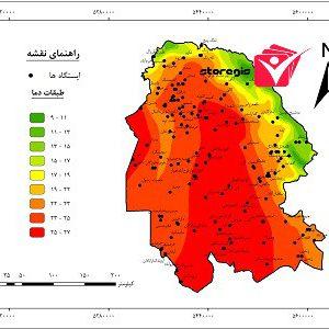 دانلود نقشه طبقات دما استان خوزستان