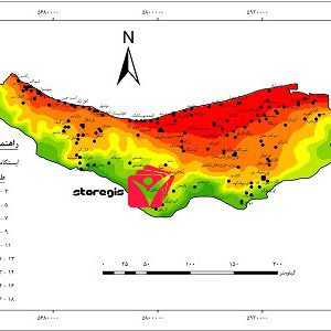 دانلود نقشه طبقات دما استان مازندران