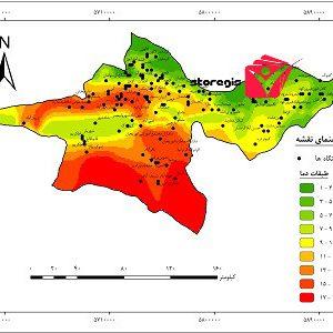دانلود نقشه طبقات دما استان تهران