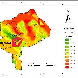 دانلود نقشه طبقات دما استان یزد