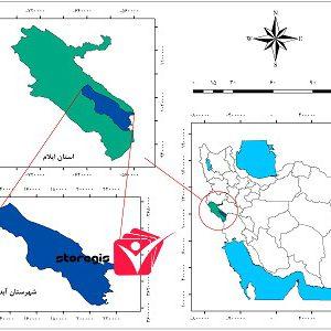 دانلود نقشه موقعیت شهرستان آبدانان