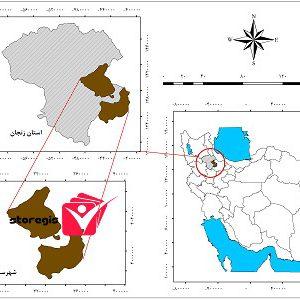 دانلود نقشه موقعیت شهرستان ابهر