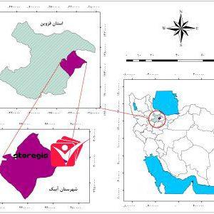 دانلود نقشه موقعیت شهرستان آبیک