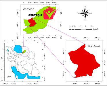 دانلود نقشه موقعیت شهرستان آق قلا