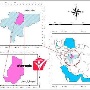 دانلود نقشه موقعیت شهرستان اردستان