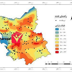 دانلود نقشه طبقات بارشی استان آذربایجان شرقی