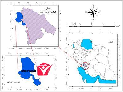 دانلود نقشه موقعیت شهرستان بهمئی