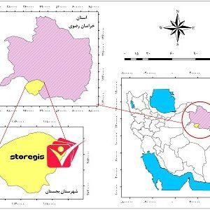 دانلود فایل موقعیت شهرستان بجستان