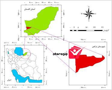 دانلود نقشه موقعیت شهرستان ترکمن