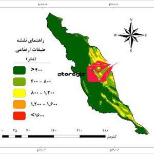 دانلود نقشه طبقات ارتفاعی استان بوشهر