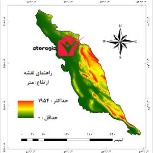 دانلود نقشه ارتفاع استان بوشهر