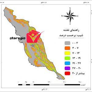 دانلود نقشه درصد شیب استان بوشهر