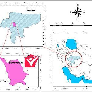 دانلود نقشه موقعیت شهرستان برخوار