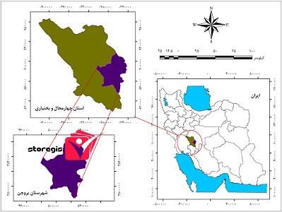 دانلود نقشه موقعیت شهرستان بروجن