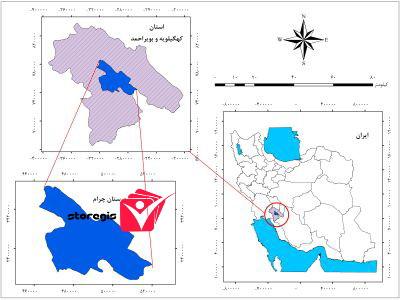 دانلود نقشه موقعیت شهرستان چرام