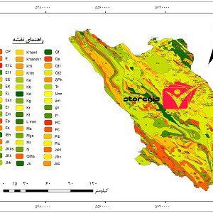 دانلود نقشه زمین شناسی استان چهارمحال و بختیاری