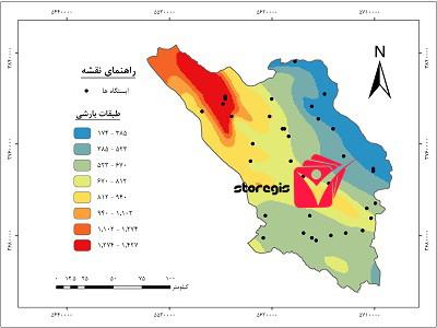 دانلود نقشه طبقات بارشی استان چهارمحال و بختیاری