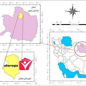 دانلود فایل موقعیت شهرستان چناران