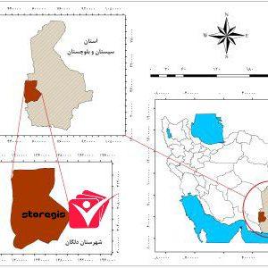 دانلود نقشه موقعیت شهرستان دلگان
