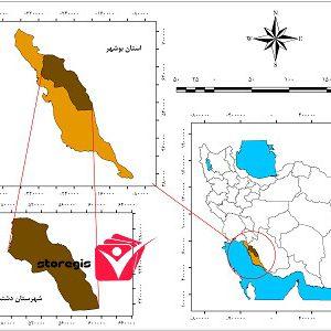 دانلود نقشه موقعیت شهرستان دشتستان