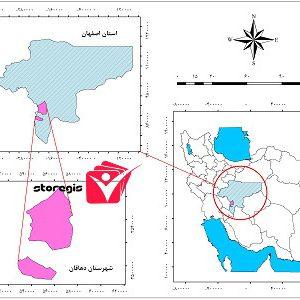 دانلود نقشه موقعیت شهرستان دهاقان