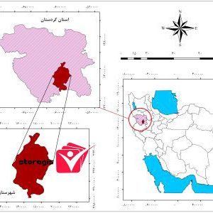دانلود نقشه موقعیت شهرستان دهگلان