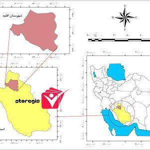 دانلود نقشه موقعیت شهرستان اقلید