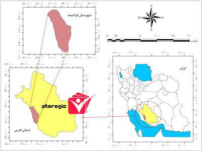 دانلود نقشه موقعیت شهرستان فراشبند