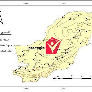 دانلود نقشه همدما استان گلستان