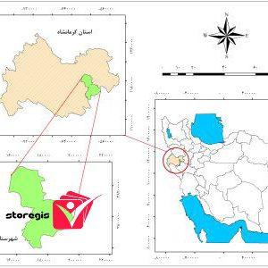 دانلود نقشه موقعیت شهرستان هرسین
