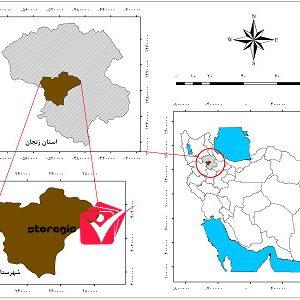 دانلود نقشه موقعیت شهرستان ایجرود