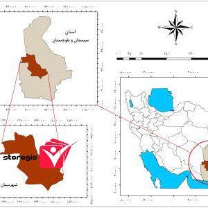 دانلود نقشه موقعیت شهرستان ایرانشهر