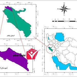 دانلود نقشه موقعیت شهرستان ایوان
