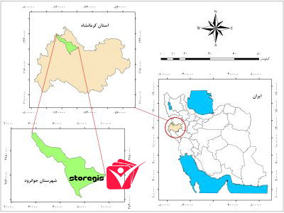 دانلود نقشه موقعیت شهرستان جوانرود