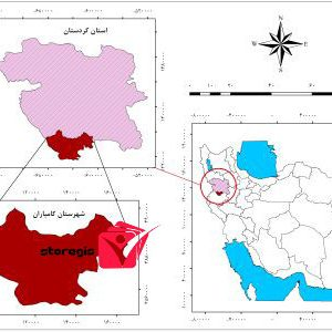 دانلود نقشه موقعیت شهرستان کامیاران