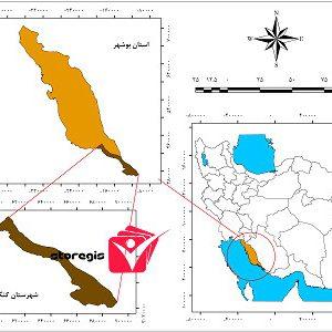 دانلود نقشه موقعیت شهرستان کنگان