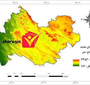 دانلود نقشه ارتفاع استان کرمانشاه