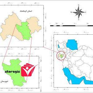 دانلود نقشه موقعیت شهرستان کرمانشاه