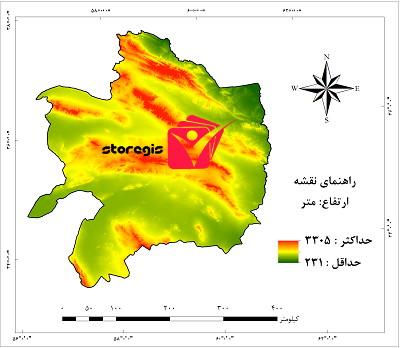 دانلود نقشه ارتفاع استان خراسان رضوی