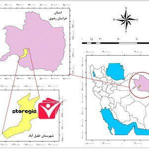 دانلود فایل موقعیت شهرستان خلیل آباد