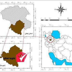 دانلود نقشه موقعیت شهرستان خدابنده
