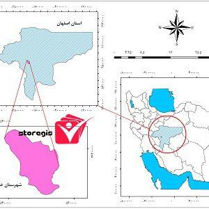 دانلود نقشه موقعیت شهرستان خمینی شهر