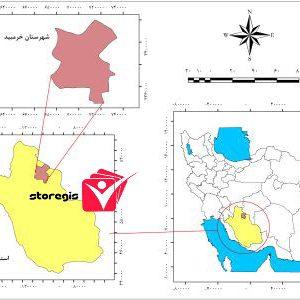 دانلود نقشه موقعیت شهرستان خرمبید