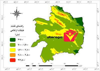 دانلود نقشه طبقات ارتفاعی استان خراسان رضوی
