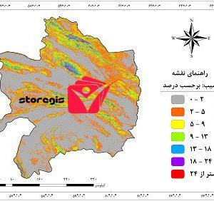 دانلود نقشه درصد شیب استان خراسان رضوی