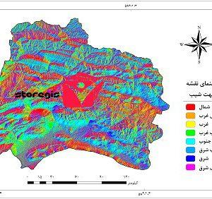 نقشه جهت شیب استان خراسان شمالی